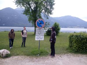 Pause am schönen Wolfgangsee
